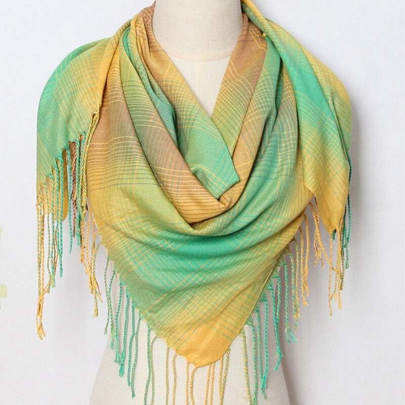 GREEN AND YELLOW SCARF JERROS BIRR