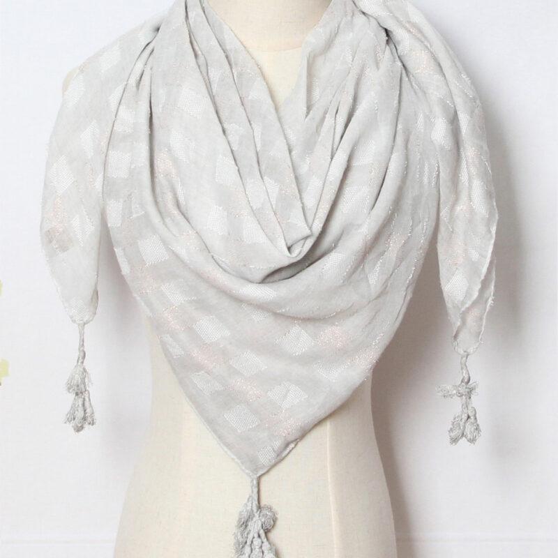 grey squared scarf