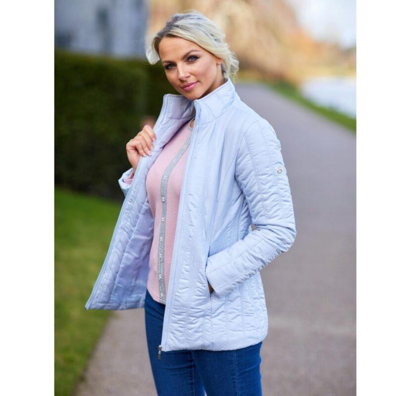stretch waist quilt jacket paco