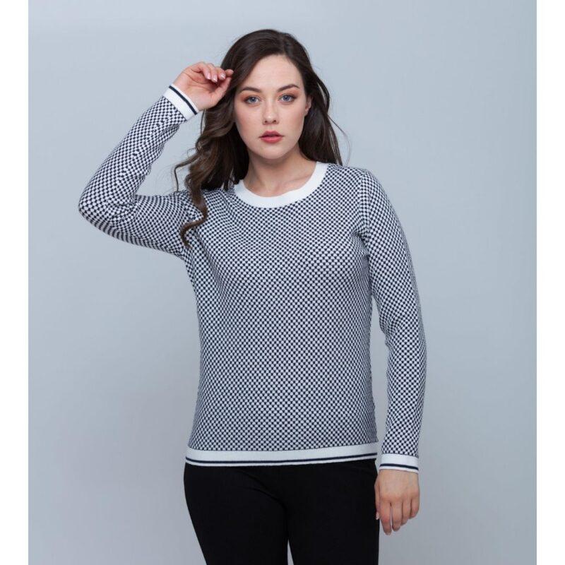 square pattern sweater