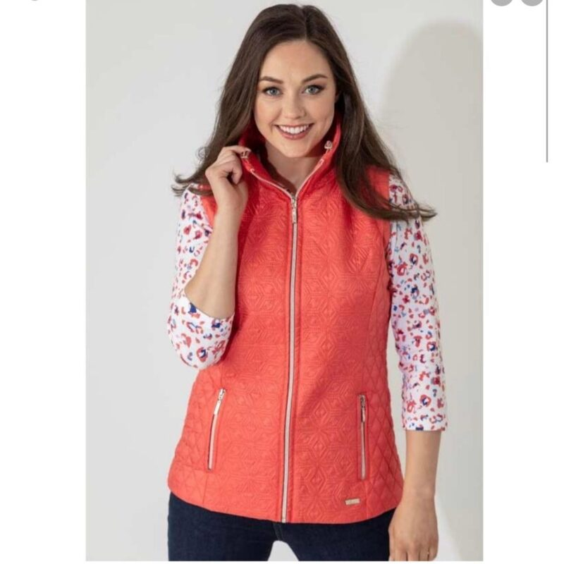 jacquard front gilet red paco