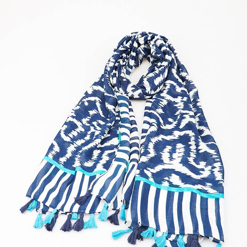 blue and teal scarf