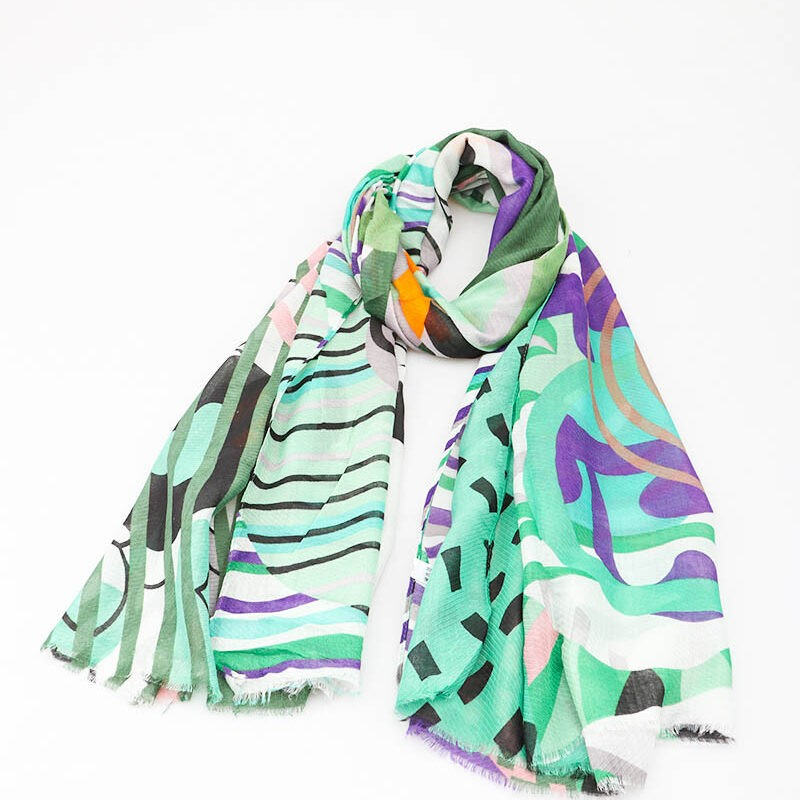 green mix scarf jerros