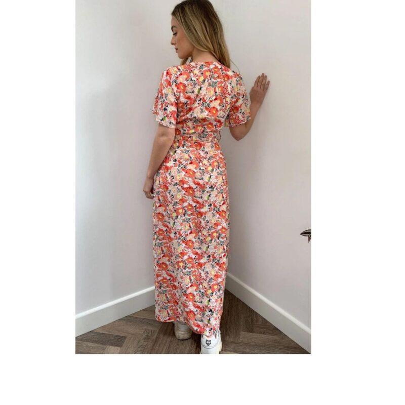 Farren Floral Dress bk