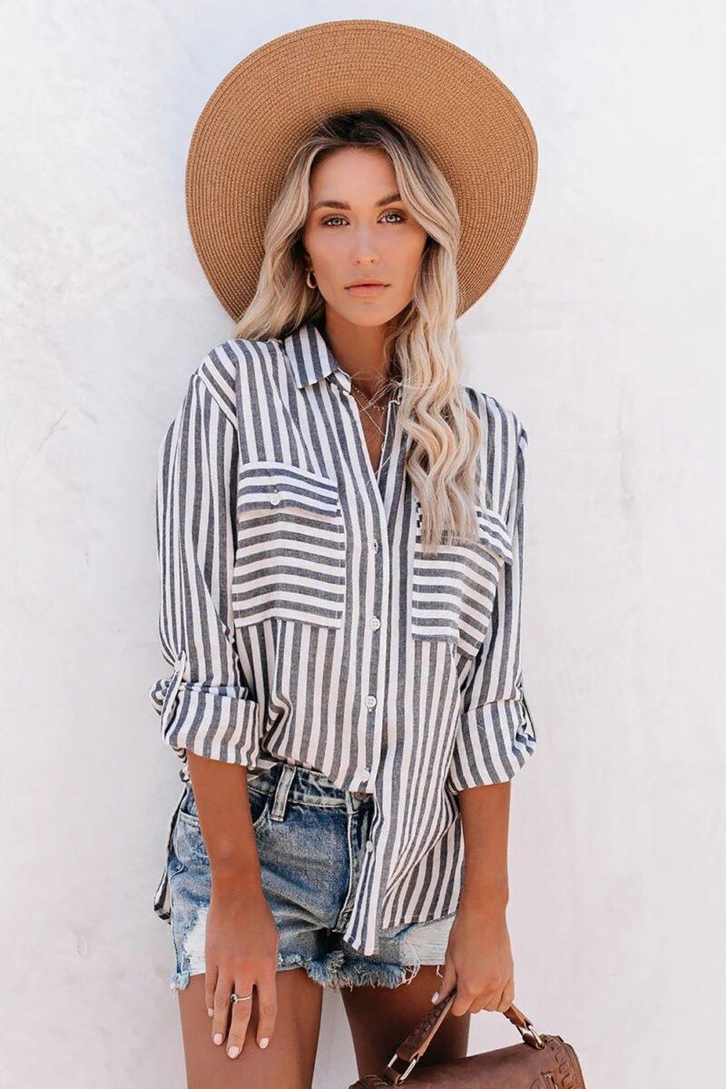 Grey Striped Shirt Jerros Birr