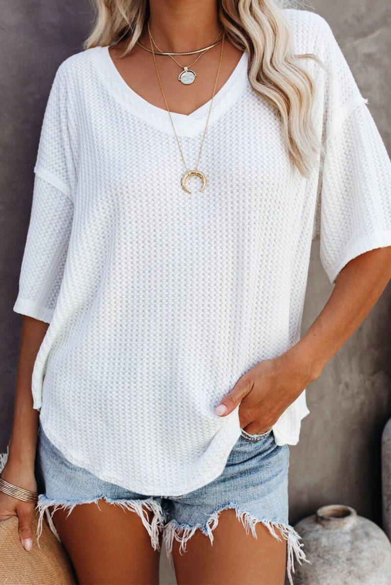 White loose fit top jerros