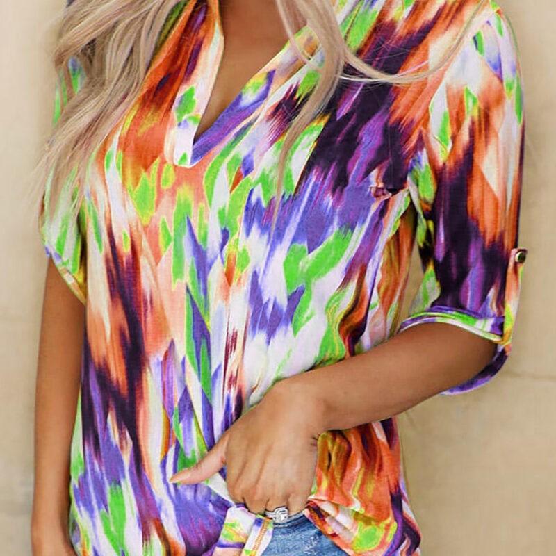 multicoloured top