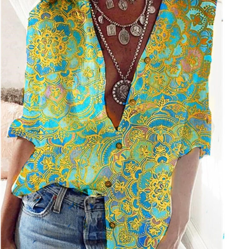 Yellow and Green Blouse