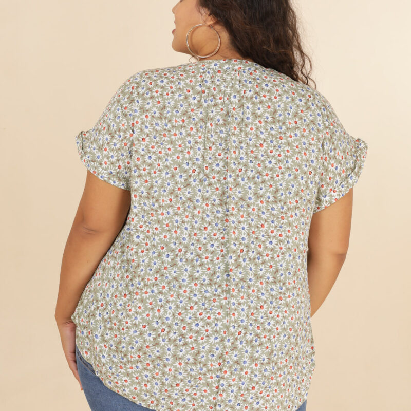 Fiona Green Floral Top