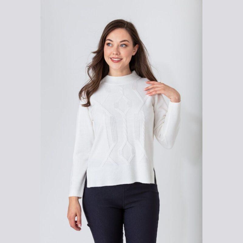 Cable Front cashmillion sweater