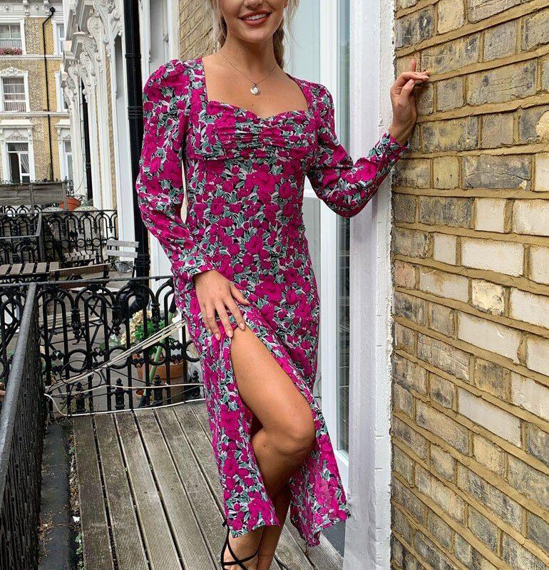 kara midi dress girl in mind
