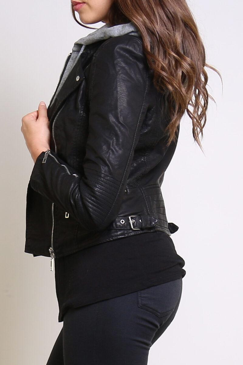 leather look jacket jerros birr