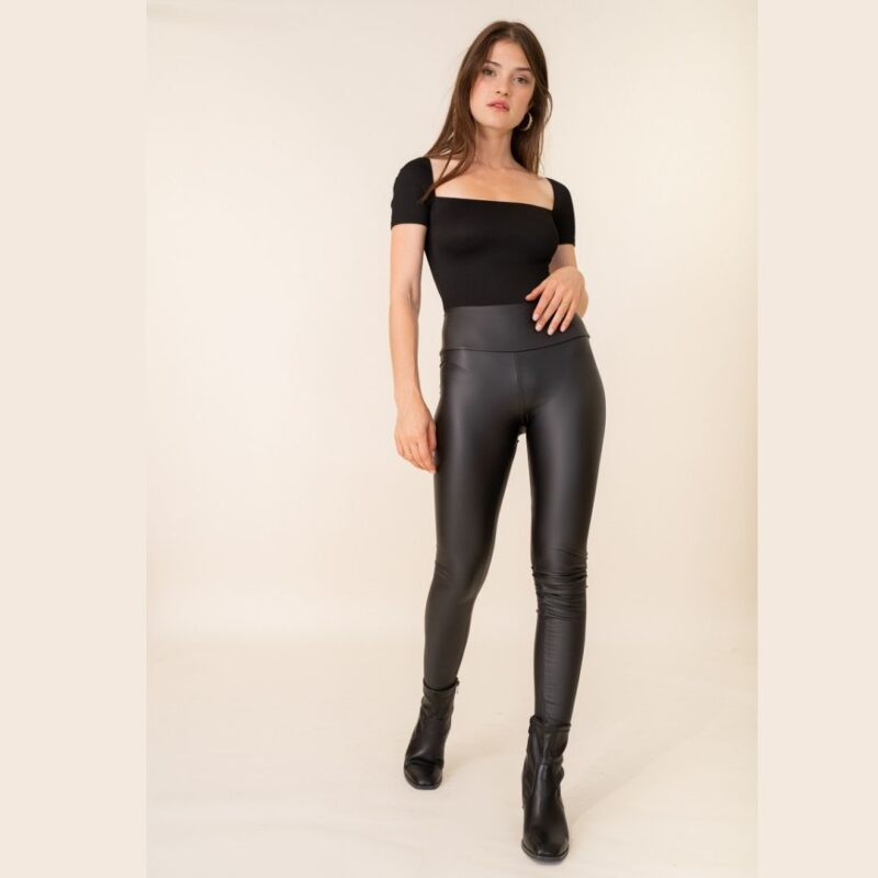 leather look jeggings