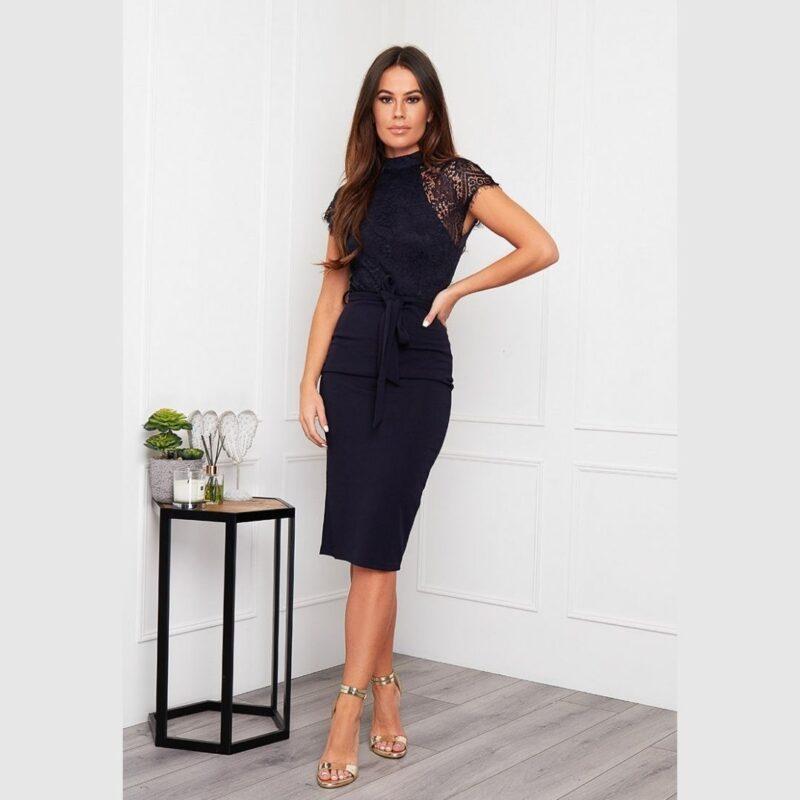 Lyla Navy Dress girl in mind