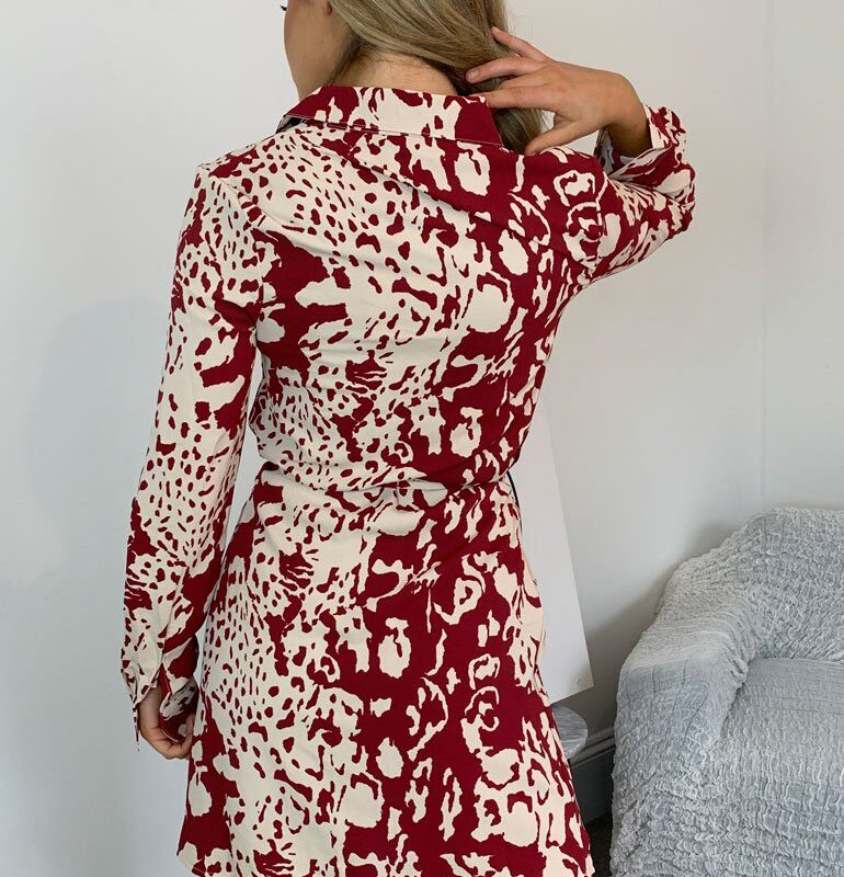 heather red animal Dress (1)