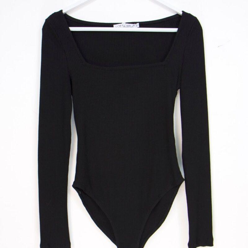 black knit bodysuit